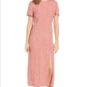 Leith Polka Dot Midi Dress